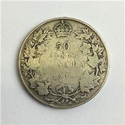 1918 canada 50 cent silver coin