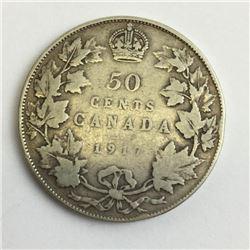 1917 canada 50 cent silver coin