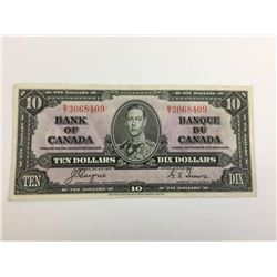1937 bank of canada ten dollar bank note