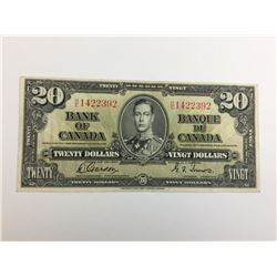 1937 bank of canada twenty dollar bank note