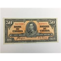 1937 bank of canada fifty dollar bank note