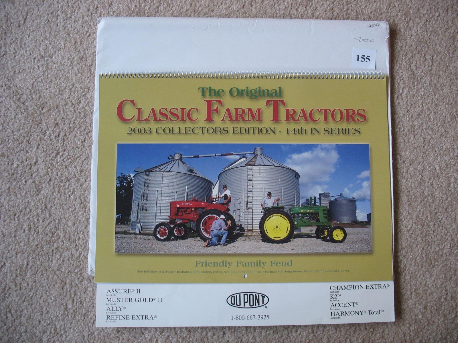 1998 & 2003 Dupont Vintage Tractor Calendars