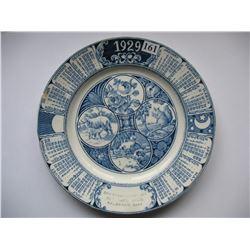1929 Calendar Plate - Valbrand,  Saskatchewan - Odegaard Bros