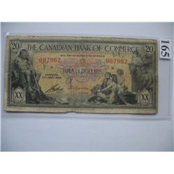 1935 Canadian Bank of Commerce - $20 Banknote - Ser. # 002962