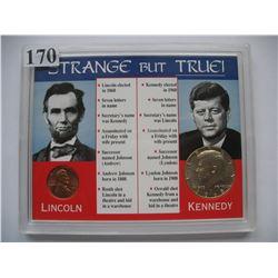 Strange but True Set - US Lincoln Cent & Kennedy Half Dollar