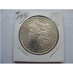 1881S  United States Morgan Dollar