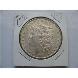 1891S  United States Morgan Dollar