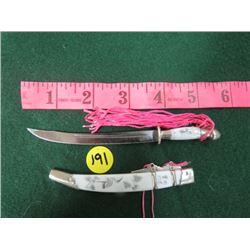 ORNAMENTAL JAPANESE MINIATURE CEREMONIAL SWORD (SIGNED)