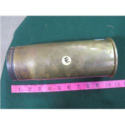 CANADIAN ARMY 76 MM TANK ROUND BRASS SHELL CASING