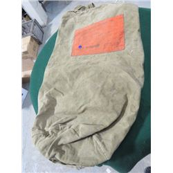 CANADIAN ARMY WOODS CANVAS TENT BAG