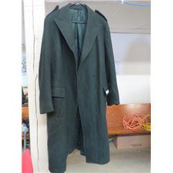 CANADIAN ARMY DEU DRESS WOOL OVERCOAT (48CHEST, 27SLEEVE, 48 LONG)