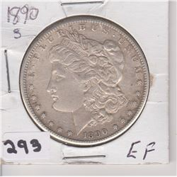 1890 S US MORGON SILVER DOLLAR