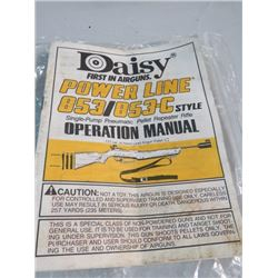 DAISY PUMP PELLET REPEATER RIFLE MANUAL AND BAG OF SRTIP CLIPS