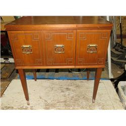 "KENMORE SEWING MACHINE IN MAPLE CABINET APPROX 36""H"