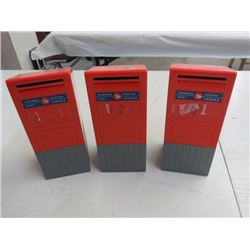 """3 CANADA POST BANKS 8.5""""T"""