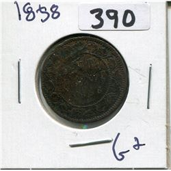 CANADA 1858 LARGE PENNY