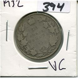 CANADA 1932 50 CENT PIECE