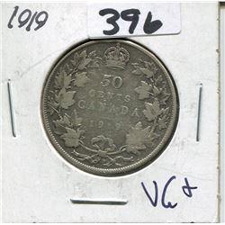 CANADA 1919 50 CENT PIECE