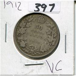 CANADA 1912 50 CENT PIECE