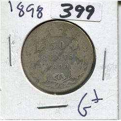 CANADA 1898 50 CENT PIECE