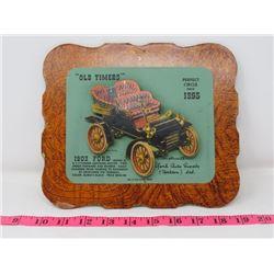 1903 FORD MODEL A CAR DEALER CARD 9X8 YORK AUTO SUPPOLY CO. YORKTON SK.