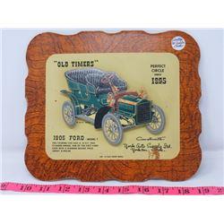 1905 FORD MODEL F CAR DEALER CARD 9X8 YORK AUTO SUPPOLY CO. YORKTON SK.