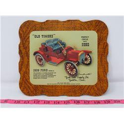 1908 FORD MODEL S CAR DEALER CARD 9X8 YORK AUTO SUPPOLY CO. YORKTON SK.