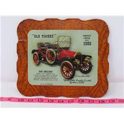 1909 OAKLAND CAR DEALER CARD 9X8 YORK AUTO SUPPOLY CO. YORKTON SK.