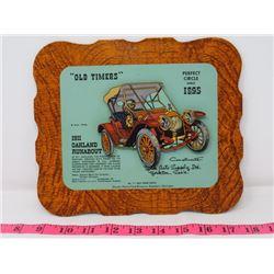 1911 OAKLAND RUNABOUT CAR DEALER CARD 9X8 YORK AUTO SUPPOLY CO. YORKTON SK.
