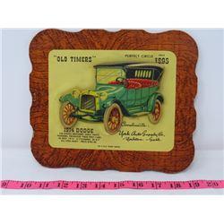 1914 DODGE CAR DEALER CARD 9X8 YORK AUTO SUPPOLY CO. YORKTON SK.