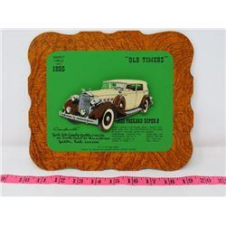 1935 PACKARD SUPER 8 CAR DEALER CARD 9X8 YORK AUTO SUPPOLY CO. YORKTON SK.