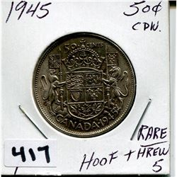 1945 CNDN SILVER 50 CENT PC