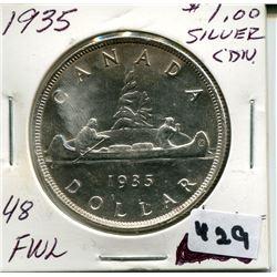1935 CNDN SILVER DOLLAR