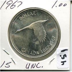 1967 CNDN SILVER DOLLAR UNCIRCULATED