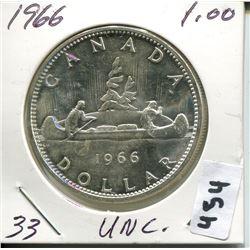 1966 CNDN SILVER DOLLAR UNCIRCULATED