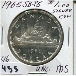 1965 CNDN SILVER DOLLAR UNCIRCULATED