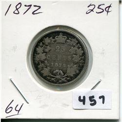 1872 CNDN SILVER QUARTER