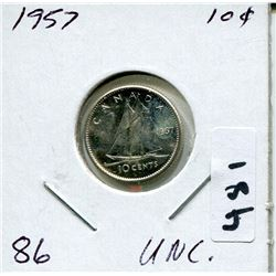 1957 CNDN SILVER DIME UNCIRCULATED