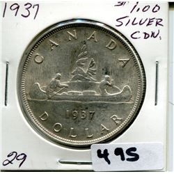 1937 CNDN SILVER DOLLAR