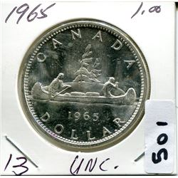 1965 CNDN SILVER DOLLAR UNCIRCULATED