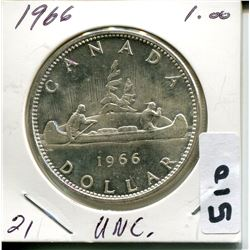 1966 CNDN SILVER DOLLAR UNCIRCULATED