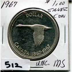 1967 CNDN SILVER DOLLAR UNCIRCULATED