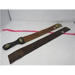2 VINTAGE BARBER STRAPS, 1-BARBERSHOP OLD FASHIONED 1- REALEDGE
