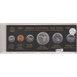 1967 CANADA YEAR SET SET OF 6 PENNY TO DOLLAR
