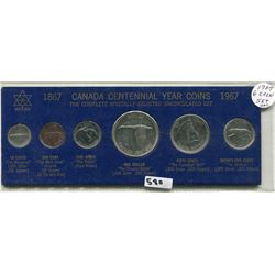 1967 CNDN CENTENNIAL SET OF 6 UNCIRCULATED,