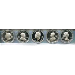 2009 RCM 5 - $15 COINS, ROYAL VIGNETTES