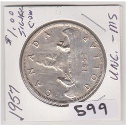 1957 CNDN SILVER DOLLAR