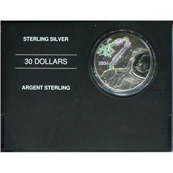 2006 $30 SILVER ASTROUNAT COIN CANADARM
