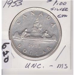 1953 CNDN SILVER DOLLAR COIN