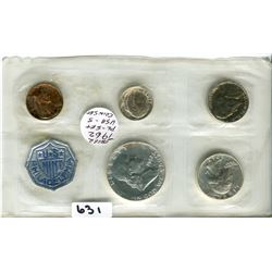 1962 US MINT COINS PENNY TO 50 CENT PC